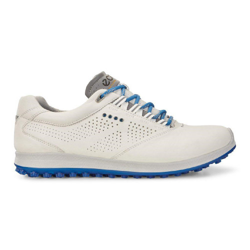 Ecco Mens Golf Biom Hybrid 2 White Bermuda Blue