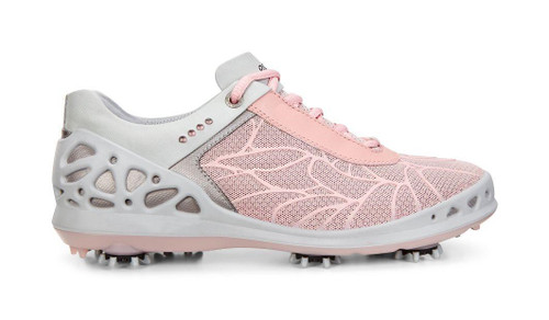 Ecco Women's Cage Silver Pink Textile Golf Shoes
