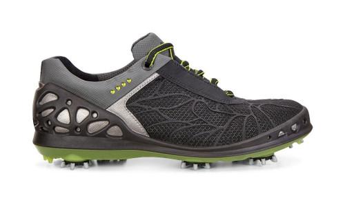 Ecco Women's Cage Black Textile Golf Shoes
