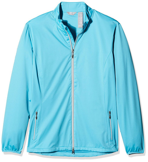 Callaway Womens 2 Layer Golf Jacket Blue Atoll Small