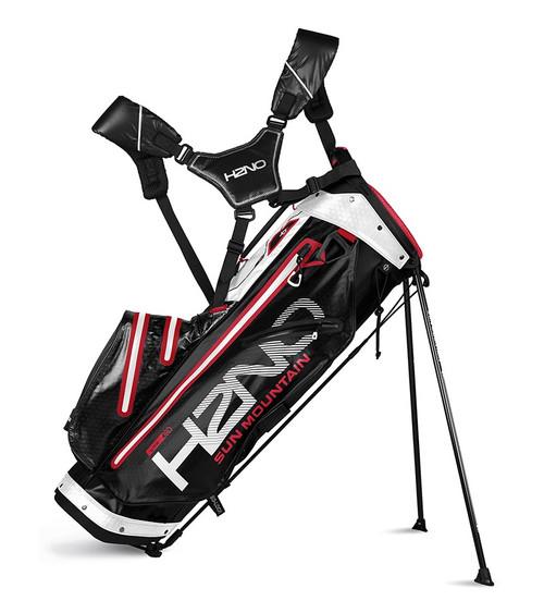 Sun Mountain H2N0 lite Waterproof Golf bag Black/Red/White (18H2NOL-BWR)