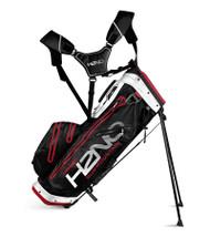 Sun Mountain H2N0 14-WAY Waterproof Golf Bag Black/White/Red (18H2NOS-BWR)