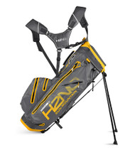 Sun Mountain H2N0 14-WAY Waterproof Golf Bag Gunmetal/Yellow (18H2NOS-GY)