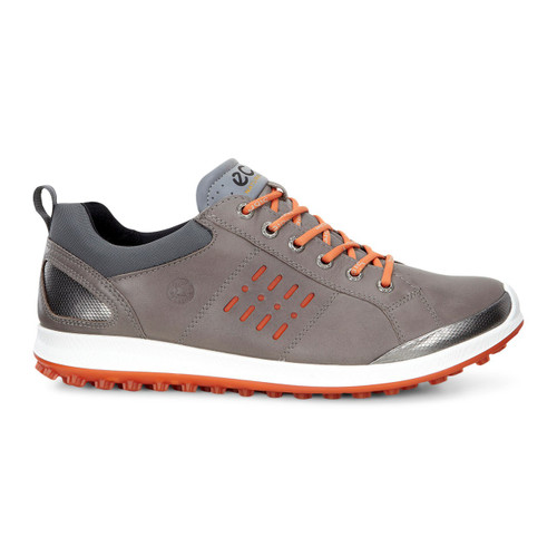 Ecco Mens Biom Hybrid 2 Goretex Golf Shoes Grey/Orange
