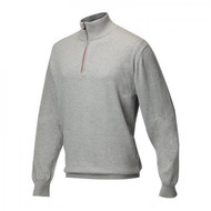 JRB Mens Lined Golf Sweater Light Grey