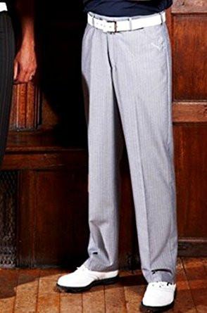 Stromberg Mens Palmares/1 Grey Multistripe Funky Golf Trouser 40Wx31L
