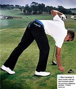Stromberg Golf San Lorenzo 2 Funky Navy and Blue Trouser 30W x 33L