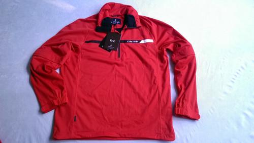 Cross Mens Pro Waterproof Stretch Golf Pullover Zip-Off Sleeves Motor Red