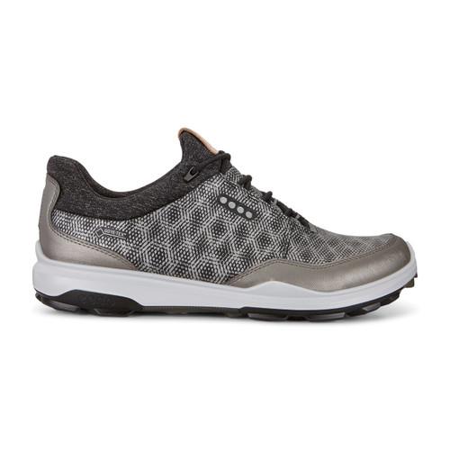 Ecco Mens Biom Hybrid 3 Goretex Golf Shoes Black Buffed Silver