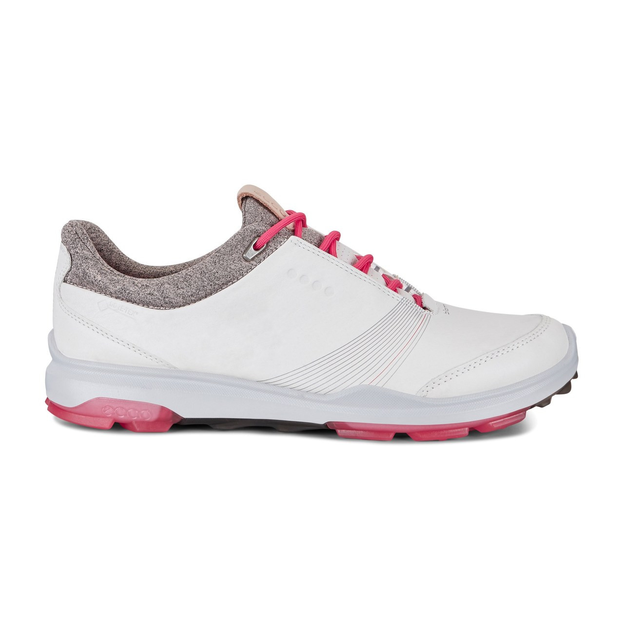 148a9d402638 Ecco Women s Biom Hybrid 3 Goretex Golf Shoes White Teaberry - New ...