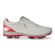 Ecco Mens Biom G2 Goretex Golf Shoes Concrete Scarlet