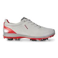 Ecco Mens Biom G2 Goretex Golf Shoes Concrete Scarlet