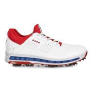 Ecco Mens Golf Cool Goretex Shoes White Tomato