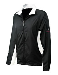 Sunderland Ladies Amalfi Wind Jacket Black White Size Large