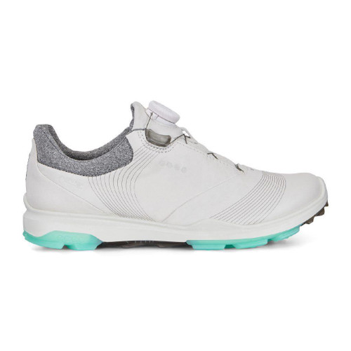 Ecco Women's Biom 3 Boa Goretex Golf Shoes White Emerald