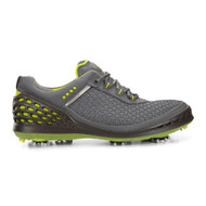 Ecco Mens Cage Golf Shoes Dark Shadow Sulphur