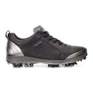 Ecco Womens Biom G2 Golf Shoes Black Buffed Silver