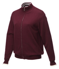 JRB Ladies Windstopper Lined Golf Sweater Burgundy