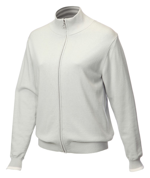 JRB Ladies Windstopper Lined Golf Sweater Light Grey