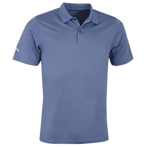 Callaway Golf Mens Classic Chev Solid Polo Shirt Moonlight Blue