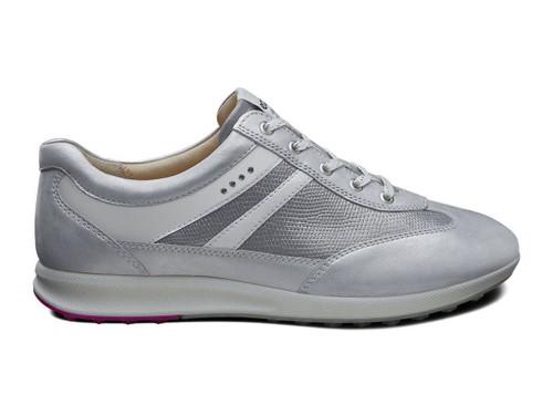 Ecco Womens Street Evo One Golf Shoes White Silver