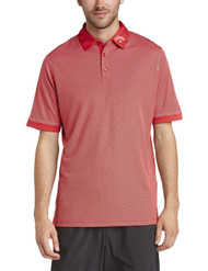 Callaway Mens Hawkeye Golf Polo Shirt Salsa