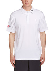 Callaway Mens Opti Vent Tour Golf Polo Shirt White