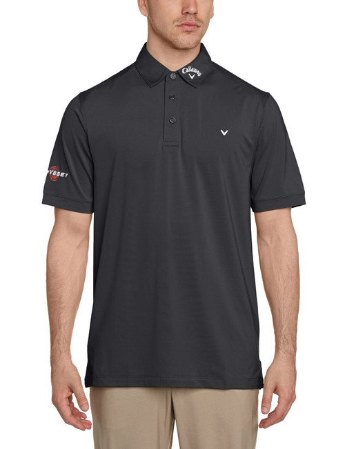 Callaway Mens Opti Vent Tour Golf Polo Shirt Caviar