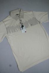 Ashworth Mens Golf Shirt Stone Large