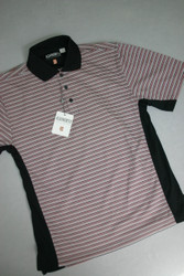 Ashworth Mens Golf Shirt Black/Red Large