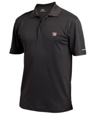 Wilson Authentic Mens Rib Golf Polo Black Large