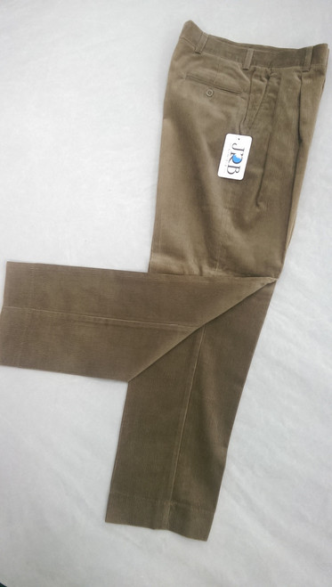 JRB Mens Cord Golf Trousers Taupe