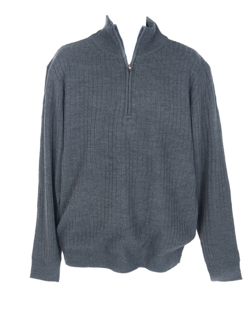 JRB Mens Windstopper Lined Golf Sweater Charcoal