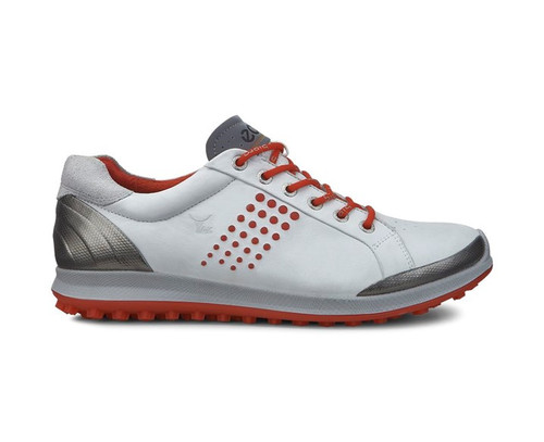 Ecco Mens Biom Hybrid 2 Golf Shoes White/Fire Size 47 (UK 12-12.5)