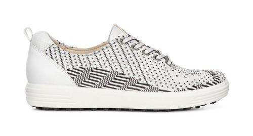 Ecco Womens Casual Hybrid Golf Shoes White Black