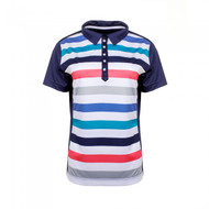 JRB Ladies Striped Golf Shirt