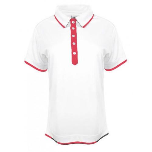 JRB Ladies Plain White Trim Golf Shirt