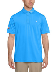 CallCallaway Men's Solid Interlock Short Sleeve Polo Shirt - Magnetic Blue, Large