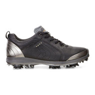 Ecco Womens Biom G2 Golf Shoes Black Buffed Silver