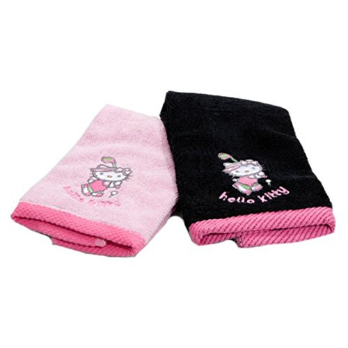 Hello Kitty Golf Towels 2 pack Black and Pink