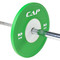 10 kg CAP Olympic Rubber Competition Bumper Plate with Steel Insert on barbell