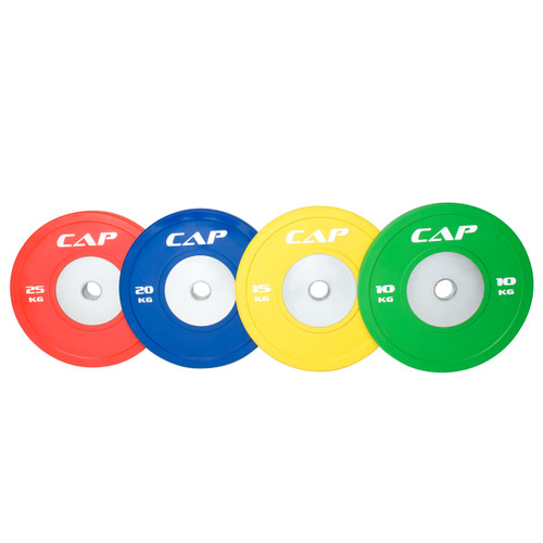 Multiple colors of CAP Olympic Rubber Competition Bumper Plate with Steel Insert