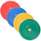 Multiple weights of CAP Olympic Rubber Bumper Plate, Color