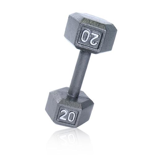 20 lb CAP Cast Iron Hex Dumbbell, Gray