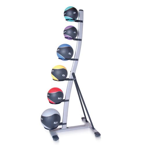 CAP Rubber Medicine Ball Set with Rack