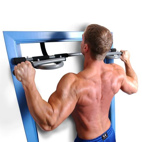 Model pulling-up with Fuel Pureformance Deluxe Door Gym