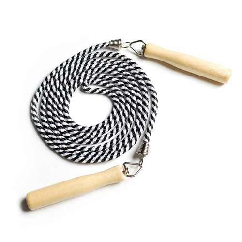 CAP Adjustable Cotton Jump Rope with Wooden Handle
