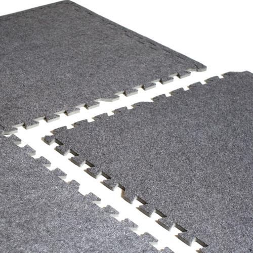 CAP 6-Piece Foam Tile Flooring with Carpet Top