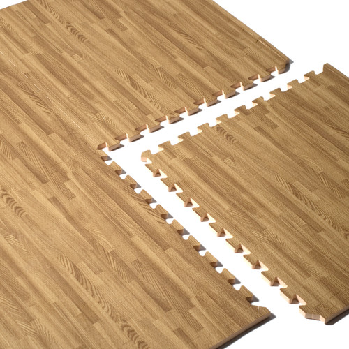 CAP 4-Piece Foam Tile Flooring with Wood Style Pattern