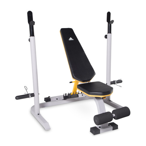 adidas Sport Adjustable Training Bench with Squat Rack